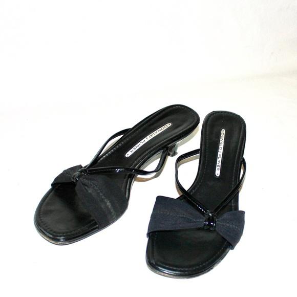 Donald J. Pliner Shoes - Donald j. Pliner Kitten Heel Strappy Mule Sandals
